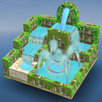 Flow Water Fountain 3D Puzzle 1.2