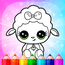 Flower Magic Color-kids coloring book with animals 3.8