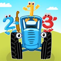 Blue Tractor Games for Toddlers 2 Years Old! Pre K