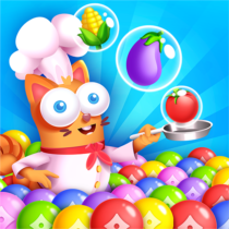 Kitten Games – Bubble Shooter Cooking Game