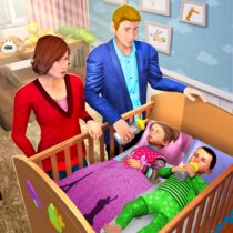 Virtual Mother Baby Twins Family Simulator Games