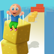 Cube Stack 3d: Fun Passing over Blocks and Surfing