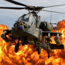 Gunship Force: Free Helicopter Games Attack 3D