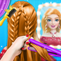 Braided Hairstyle Salon: Make Up And Dress Up  0.10