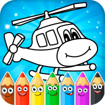 Coloring pages for children : transport  1.1.9