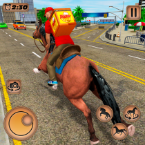 Mounted Horse Riding Pizza Guy: Food Delivery Game 1.0.4