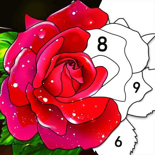 Color by Number Oil Painting Coloring Book  2.101