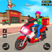 Pizza Delivery: Boy & Girl Bike Game 1.0